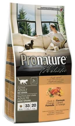 Сухой корм для кошек Pronature Holistic Grain Free, беззерновой, утка и апельсин, 5,44кг
