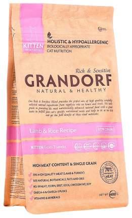 Сухой корм для котят Grandorf Natural & Healthy Kitten, ягненок, 0,4кг