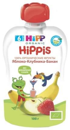 Пюре фруктовое Hipp Hippis Яблоко, клубника, банан с 6 мес 100 г