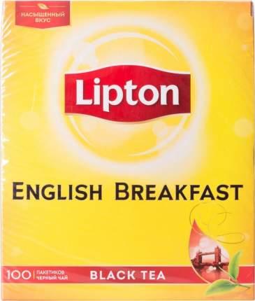 Чай черный Lipton english breakfast 100 пакетиков