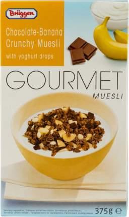 Мюсли Gourmet хрустящие Bruggen шоколадно-банановые с йогуртом 375 г