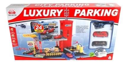 Игровой набор Парковка с 2 машинками и Вертолетом Shantou Gepai B1366806