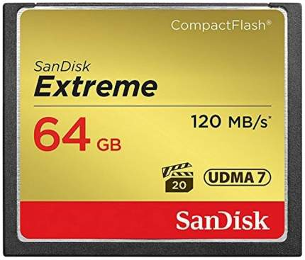 Карта памяти SanDisk Extreme Compact Flash SDCFXSB-064G-G46 64GB