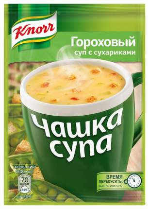 Суп Knorr чашка гороховый с сухариками 21 г