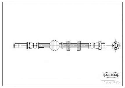 Шланг тормозной Corteco 19026425