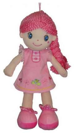Кукла Creation Manufactory с розовой косой в розовом платье мягконабивная, 20 см
