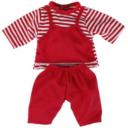 Одежда для кукол красные штаны и кофта в полоску 40 42 см Карапуз B1017045-RU