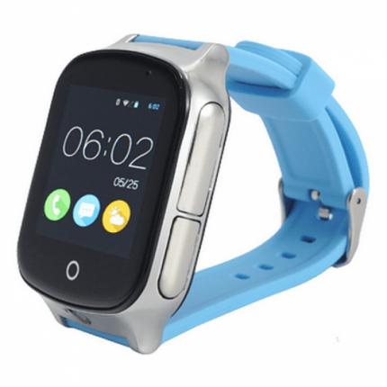 Детские смарт-часы Smart Baby Watch T100 Silver/Blue
