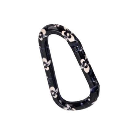 Карабин Черный цветок диам. 8*80мм 8*80