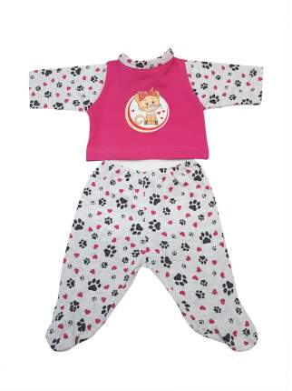 Набор одежды для кукол КоЛибри Ползунки и кофточка Колибри 43 серый розовый