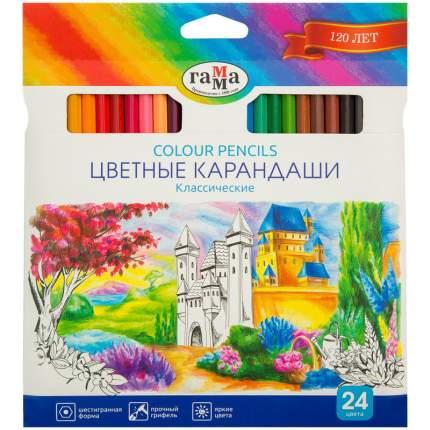 Карандаши цветные ГАММА Классические 24 цвета 050918_04