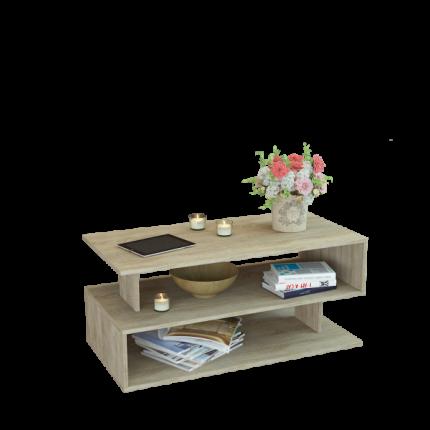 Журнальный столик MFMaster Арто-23 МСТ-СЖА-23-ДС-16 110х59,6х50,8 см, дуб сонома