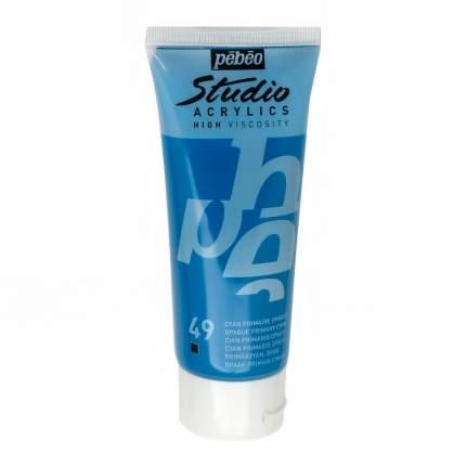 Акриловая краска Pebeo Studio Acrylics 831-049 циан 100 мл