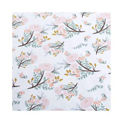"""Упаковочная бумага """"Нежные цветы"""" 1070273, 70 х 100 см"""