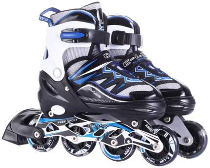Роликовые коньки (светятся колеса), черно-синие, 39-42 р. Navigator
