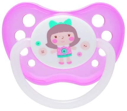 Пустышка анатомическая Canpol Toys силикон, 0-6 мес., арт. 23/256, цвет розовый