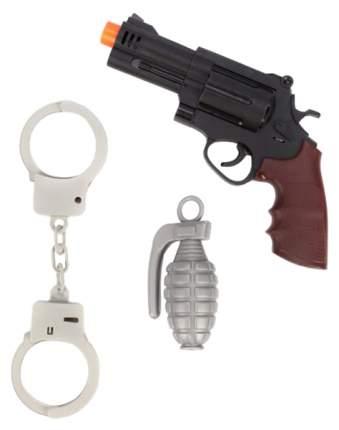 Набор полицейского Наша игрушка револьвер, наручники, граната