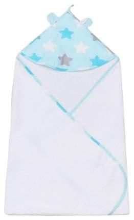 Полотенце детское с уголком AmaroBaby CUTE LOVE НЕБО В ЗВЁЗДАХ голубой/белый, 90х90 см