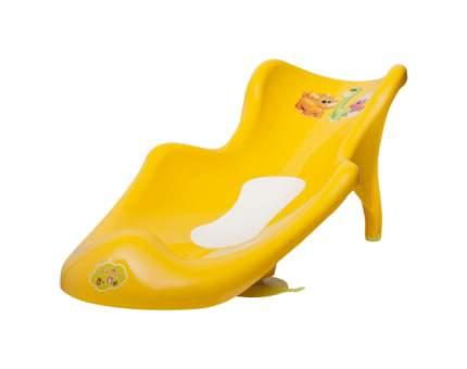 MALTEX Сиденье для ванны с нескользящим ковриком Дино Желтый