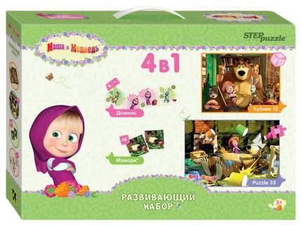 """Набор игр (4 в 1) """"Маша и Медведь"""" (развивающий набор)"""