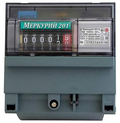 Счетчик электроэнергии Incotex Меркурий 201.6, электронный, 1 фаза, 4 тарифа, 10А