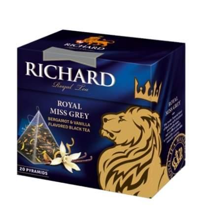 Чай Richard Royal Miss Grey черный с добавками 20 пирамидок
