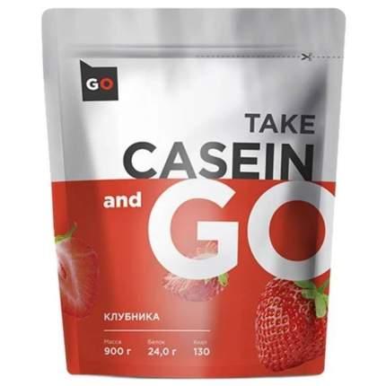 Протеин Take and  гo Casein 900 г, Клубника