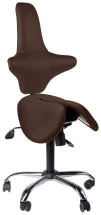 Двойное кресло-седло со спинкой EZDuo Back (цвет обивки: коричневый)