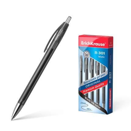 Ручка гелевая автоматическая ErichKrause R-301 Original Gel Matic, цвет чернил черный