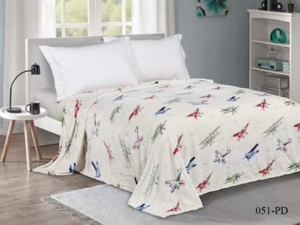 Плед в ясельную кровать Текс-Дизайн велсофт Самолеты 90х120