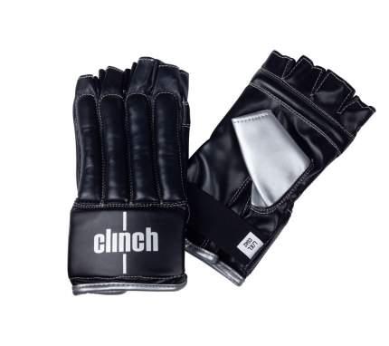 Clinch Перчатки снарядные (Шингарты) Clinch Bag Gloves Cut Finger черно-серебристые