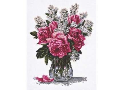 Набор для вышивания Палитра Розовый букет