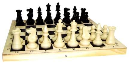 Комплект игр 2 в 1 Miland гроссмейстерские шахматы + пластиковые шашки, с доской