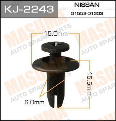 Клипса автомобильная Masuma KJ2243