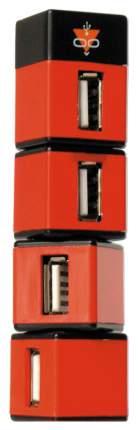 USB hub, хаб разветвитель-концентратор, 4 порта Af*2,0, UK-05 небоскреб