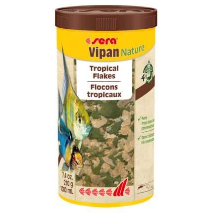 Корм для рыб Sera Vipan Nature, хлопья, 1 л