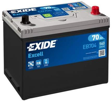 Аккумулятор автомобильный EXIDE EB704 70 Ач