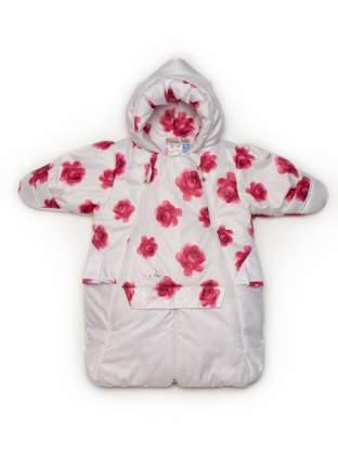 Комбинезон-трансформер конверт Malek-Baby в автолюльку весна-осень розовые розы +розовый
