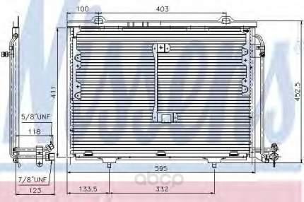 Радиатор кондиционера Nissens 94284
