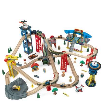 Многоуровневая железная дорога KidKraft Супер Хайвей Super Highway Train Set 85 деталей