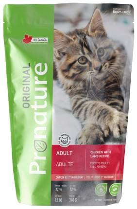 Сухой корм для кошек Pronature Original, курица, ягненок, 0,34кг