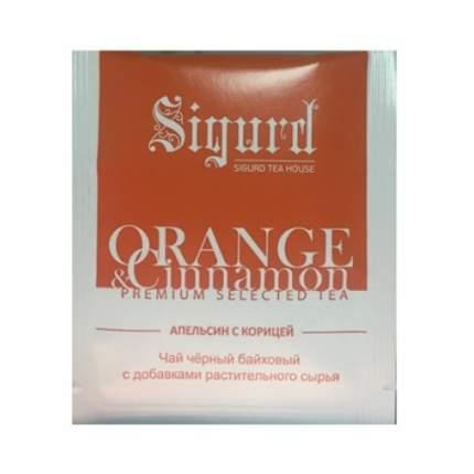 Чай черный Sigurd апельсин с корицей в пакетиках 30 штук