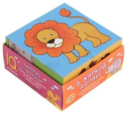 Развивающая игрушка Айрис-пресс Умные кубики 4 шт. В жаркой Африке. IQ Кубики