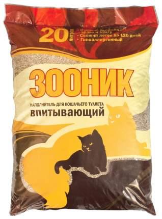 Впитывающий наполнитель туалета для кошек Зооник 20 л