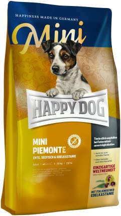 Сухой корм для собак Happy Dog Supreme Mini Piemonte, для мелких пород, утка, рыба, 4кг