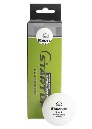 Мячи для настольного тенниса Start Up 3* BA-01 40+ белые, 3 шт.