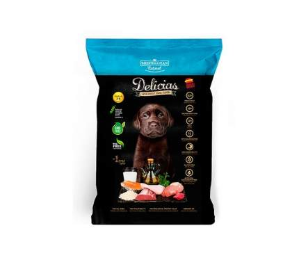 Мягкий корм для щенков DELICIAS, курица, 0,8кг