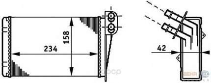 Радиатор отопителя HELLA 8FH351311031