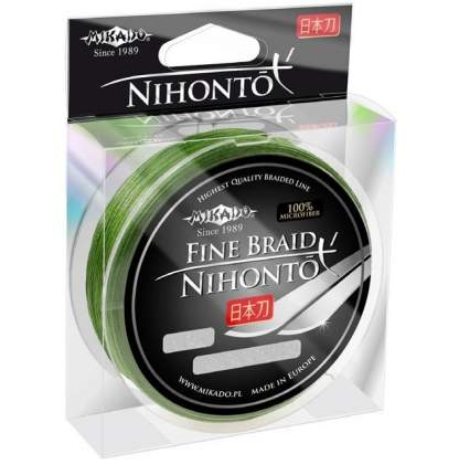 Леска плетеная Mikado Nihonto Fine 0,18 мм, 15 м, 14,4 кг green