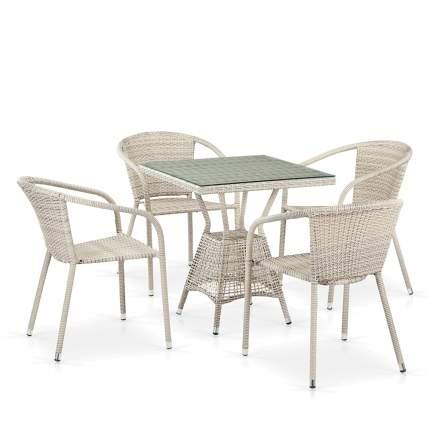 Комплект плетеной мебели T706/Y137C-W85 Latte 4Pcs